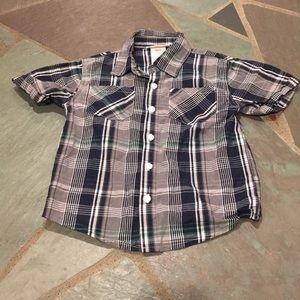 Toughskins Boys Button Down T-Shirt